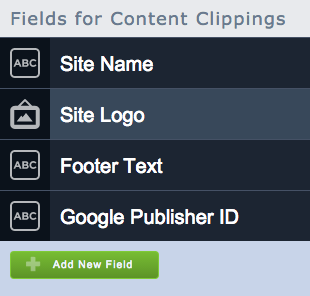 Default content clipping fields