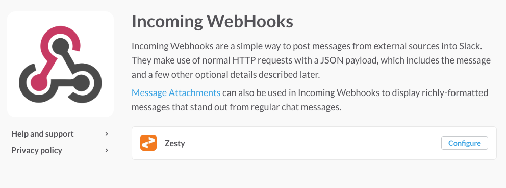 configure your webhook