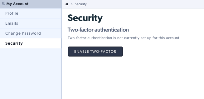 Click security link and click enable